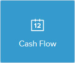 Calendar icon saying cash flow