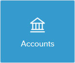 Building icon saying accounts