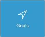 Location arrow saying goals
