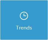 Clock icon saying trends